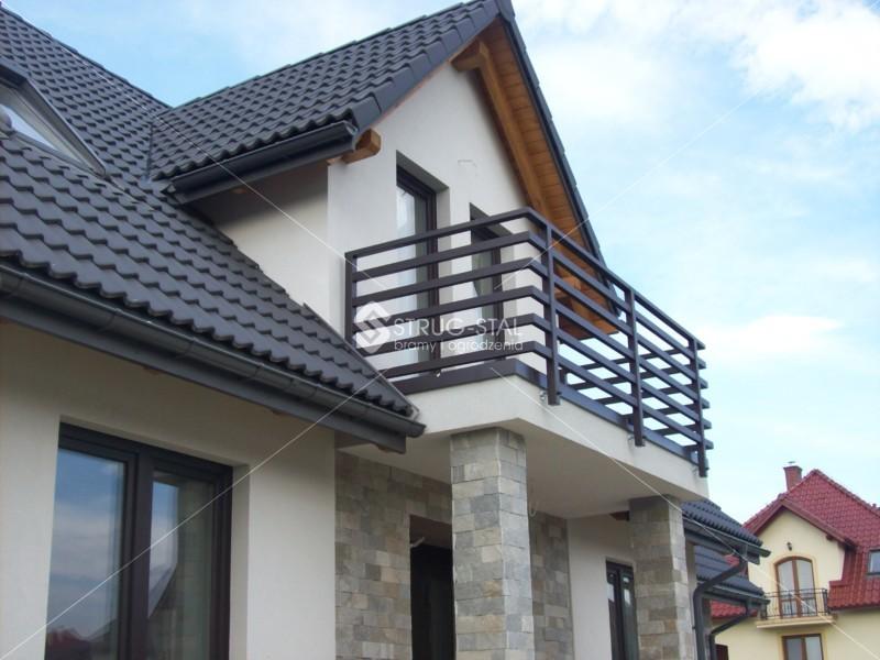 Nowoczesna architektura Balustrady nowoczesne: balkonowe i schodowe - Rzeszów,Tyczyn AN73